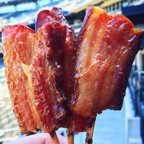Candied Bacon Lollipos - This Savory Lollipop Flavor is Comprised of a Fried Meat Centre
