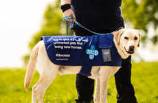 Donation-Collecting Dogs - These Special Dog Jackets Accept Contactless Donations to the Blue Cross