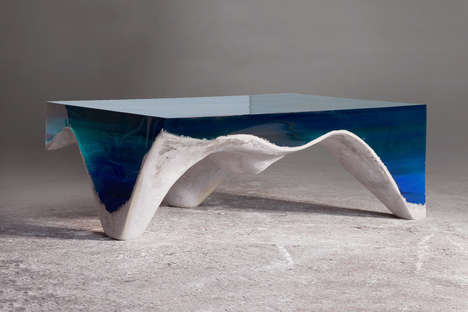 Oceanic Coffee Tables - This Beautiful Table Looks Like a Small Piece of the Ocean