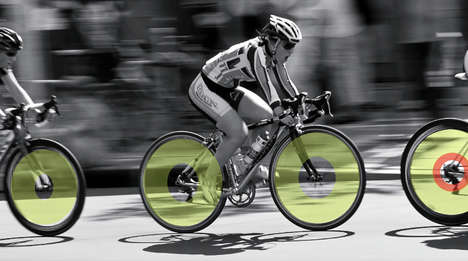 Speed-Indicating LED Wheels