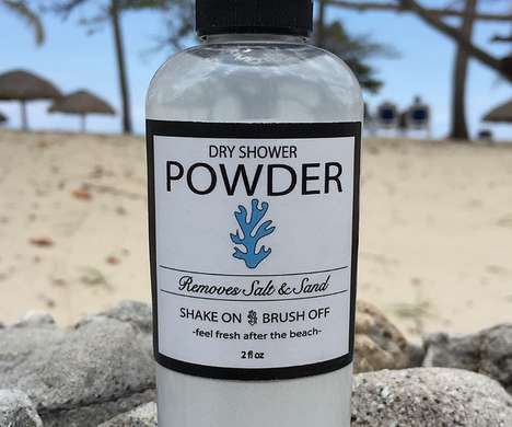 Beach Shower Powders - Dry Shower Powder Makes Removing Salt and Sand Seamless