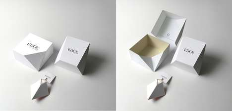 Prismatic Jewelry Packaging - Edinas Paper Installations Embraces the Edginess of Karman Jewelry