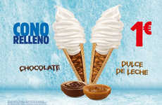 Syrup-Filled Cones - The New Cono Relleno Features a Hidden Syrup-Filled Center