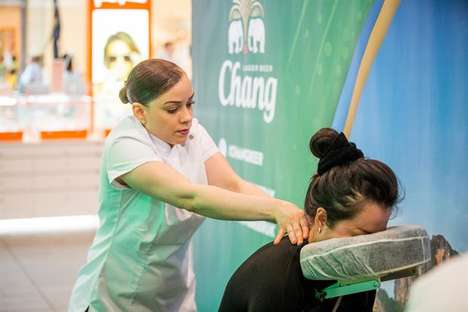 Beer Brand Massages - Chang Beer's Massage Event Gave Out a 'Massage in a Bottle'