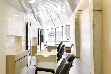 Simple Contemporary Barber Shops - This Sao Paulo Barber Shop Boasts a Neutral Color Palette