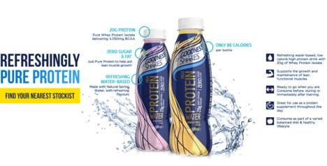 Protein Water Beverages - For Goodness Shake's Water is Packed with 20 Grams of Protein