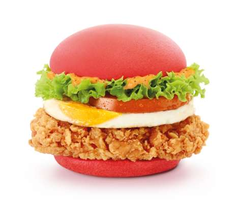 Fiery Red Burger Buns