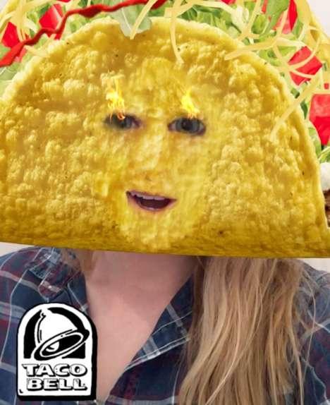 Taco Mask Snapchat Lenses