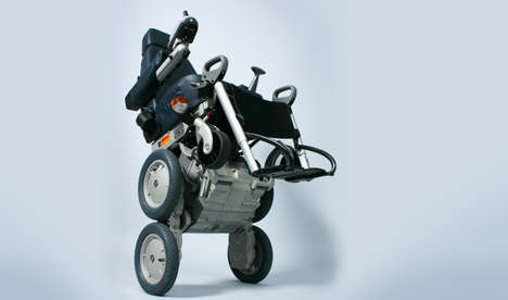 Stair-Climbing Wheelchairs - The iBot Mobile Wheelchair Utilizes Two Wheels to Climb Up Steps