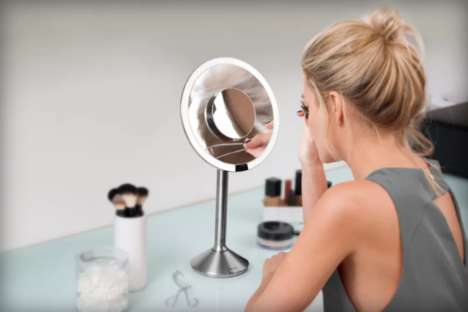 Smart Beauty Mirrors - The Simplehuman Sensor Mirror Pro Magnifies User's Face When Nearby