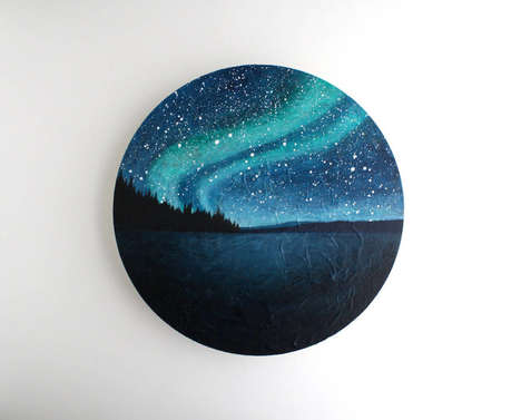 Geometric Galactic Paintings - This Collection Features Realistic Astronomical Artwork