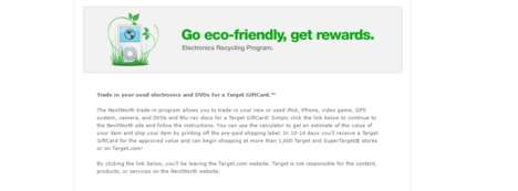 Rewarding Retail Recycling Programs - Target's NextWorth Program Rewards Consumers with Gift Cards