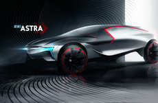 Red-Accented Concept Cars - The Opel Astra Envisions What the Company Would Createin 2030