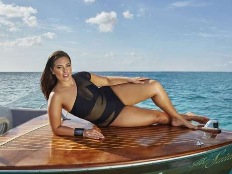 Espionage Plus-Size Swimwear - The Swimsuitforall Ashley Graham Collection is Inspired by James Bond