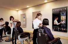 Connected Salon Mirrors - The Samsung Mirror is Being Used at Leekaja Hairbis to Satisfy Customers
