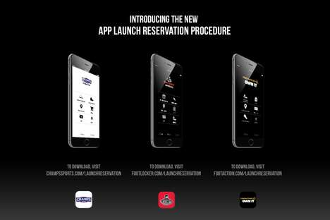 Sneaker Launch App Reservations