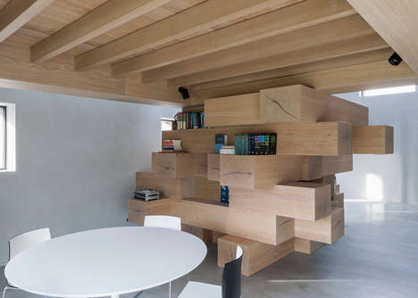 Puzzle-Inspired Staircases