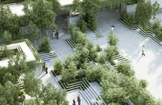 Urban Communal Gardens - This Urban Garden Design Uses Indian Water Mazes as Its Inspiration