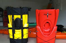 Packable Kayak Knapsacks - The Pakayak is a Collapsible Boat Designed for Easy Outdoor Transporting