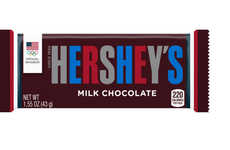 Patriotic Chocolate Bar Packaging - The New Hershey's Label Features Red, White and Blue Lettering