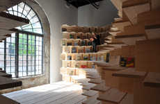 Climbable Bookshelf Exhibits