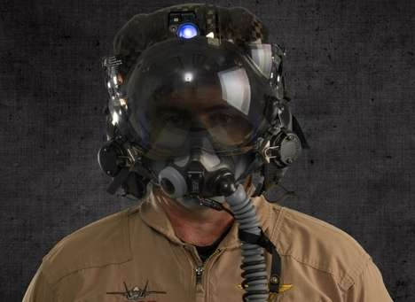 Futuristic Fighter Pilot Helmets