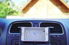 CD Slot Smartphone Docks - The Radmo Mobile Car Mount Securely Holds Devices in Place