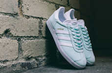 Mint-Colored Athletic Shoes - The adidas Gazelle's New Minty Colorway Give It a Fresh Feminine Look