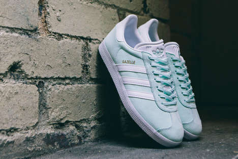 Mint-Colored Athletic Shoes