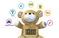 Interactive Touchscreen Plush Toys - The 'MySmartDolly' Cuddly Bear Plays Games, Songs and Stories
