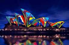 Projected Aboriginal Art - The Sydney Opera House Was Used as a Canvas for This Series