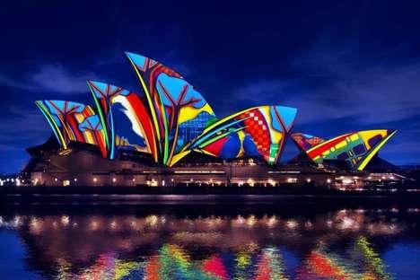 Projected Aboriginal Art