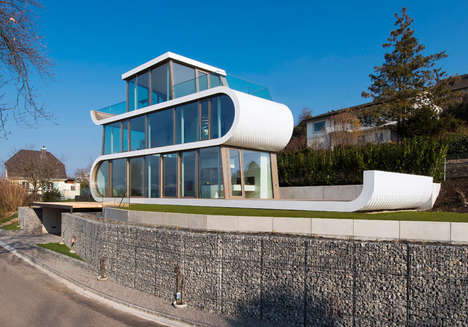 Glass-Covered Serpentine Homes