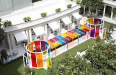 Kaleidoscopic Hotel Designs - Artist Daniel Buren Applies His Bright Designs to a Hotel in Paris