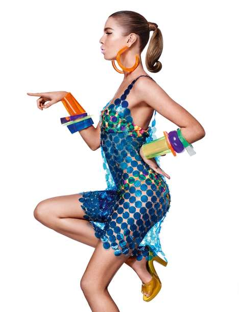 Vibrant '60s Fashion - The Daily Summer Features Stella Maxwell in Jeremy Scott Designs