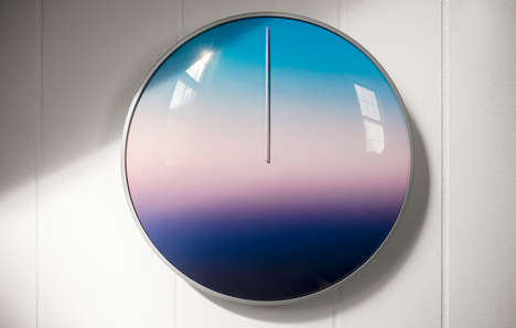 Meditative Gradient Clocks - This Artistic Clock Was Designed to Allow Reflection on the Big Picture