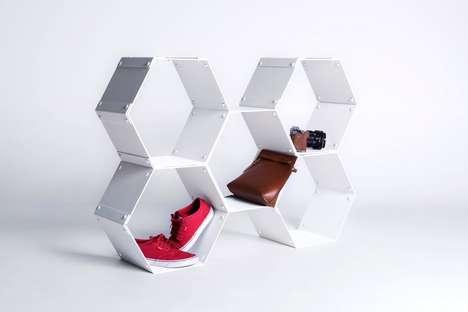 Modular Honeycomb Shelving