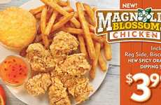 Floral Fried Chicken Dinners - The Latest Popeyes Dish Comes in the Shape of a Magnolia Blossom