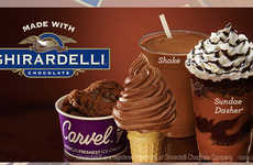 Co-Branded Soft Serve Treats - Carvel's New Ice Cream Line-Up is Made with Ghirardelli Chocolate