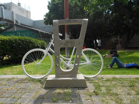 Cemented Bike Racks