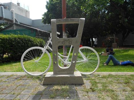 Cemented Bike Racks