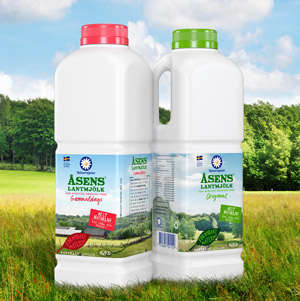 Sugar Cane Milk Jugs - The Skanemejerier Eco-Friendly Packaging is Made from Biopolymer