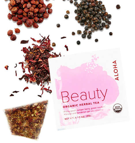 Beautifying Tea Blends - Aloha's Herbal Tea for Beauty is Powered by Rosehip and Hibiscus