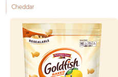 Organic Wheat Cheese Crackers - These Popular Fish-Shaped Crackers are Now Made with Organic Wheat