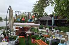 Floating Furniture Showrooms - This IKEA Display on Sustainability Occupies a Boat on the Thames