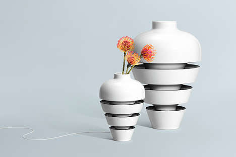 Magnetic Modular Vases - PorceLAN by Rosenthal Brings Beauty to Connectivity