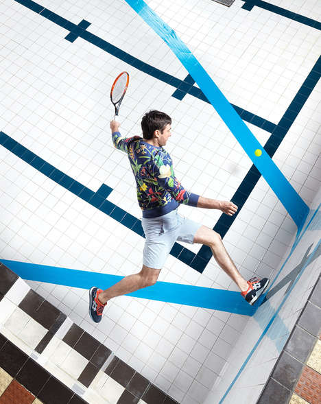 Parkour Tennis Photography