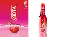 Floating Fruit Beverage Packaging - The Packaging for COOTA Cider Conveys a Clean and Fresh Feeling