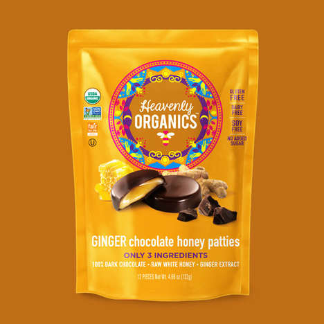 Honey-Filled Chocolates - Heavenly Organics' Chocolate Honey Patties Boast Two to Four Ingredients