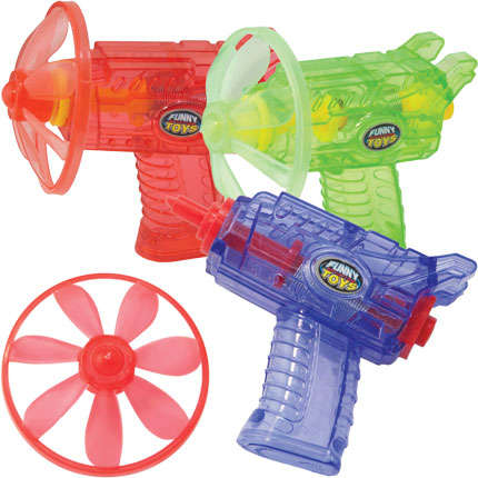 Saucer-Launching Toy Guns